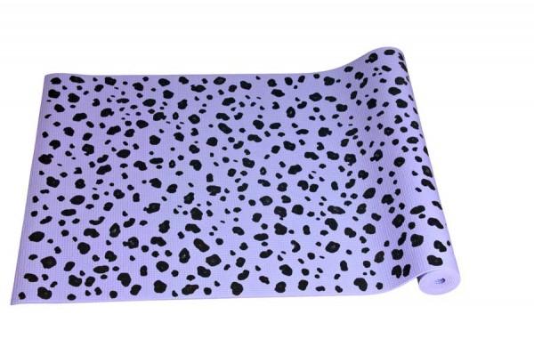 Yoga Matte lila in Leopard Muster 1035