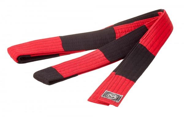 Großmeistergürtel Master 8. Dan rot/schwarz 4,5 cm