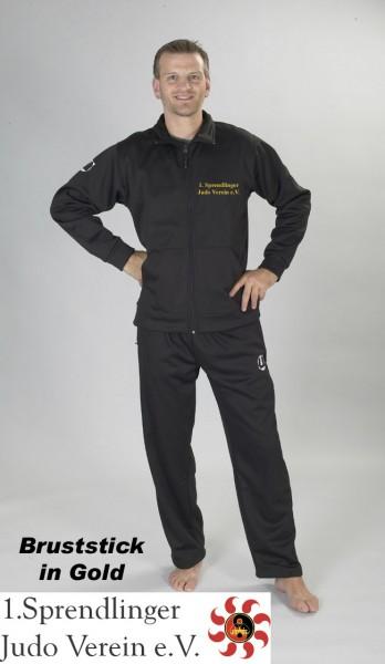 Softshell-Jacke schwarz mit Kapuze Sprendlinger Judoverein