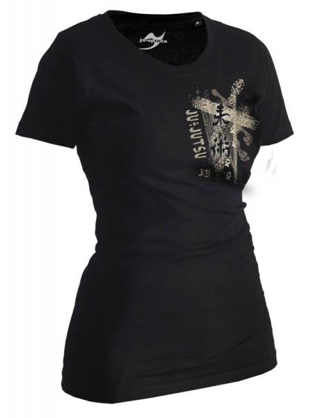 Ju-Jutsu-Shirt Trace schwarz Lady