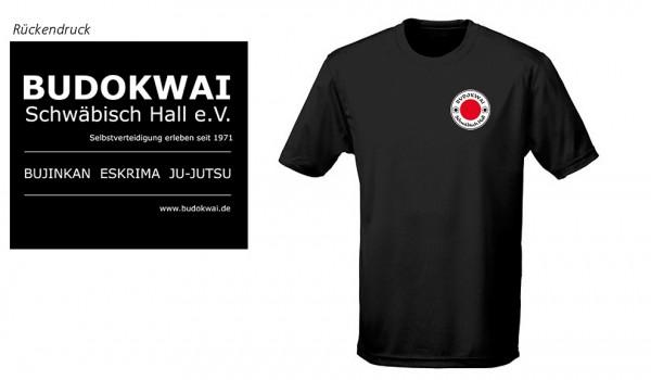 T-Shirt schwarz, Budokwai Schwäbisch Hall e.V. Vereinsedition