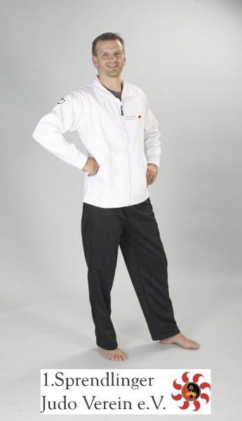 Softshell-Jacke weiß ohne Kapuze Sprendlinger Judoverein