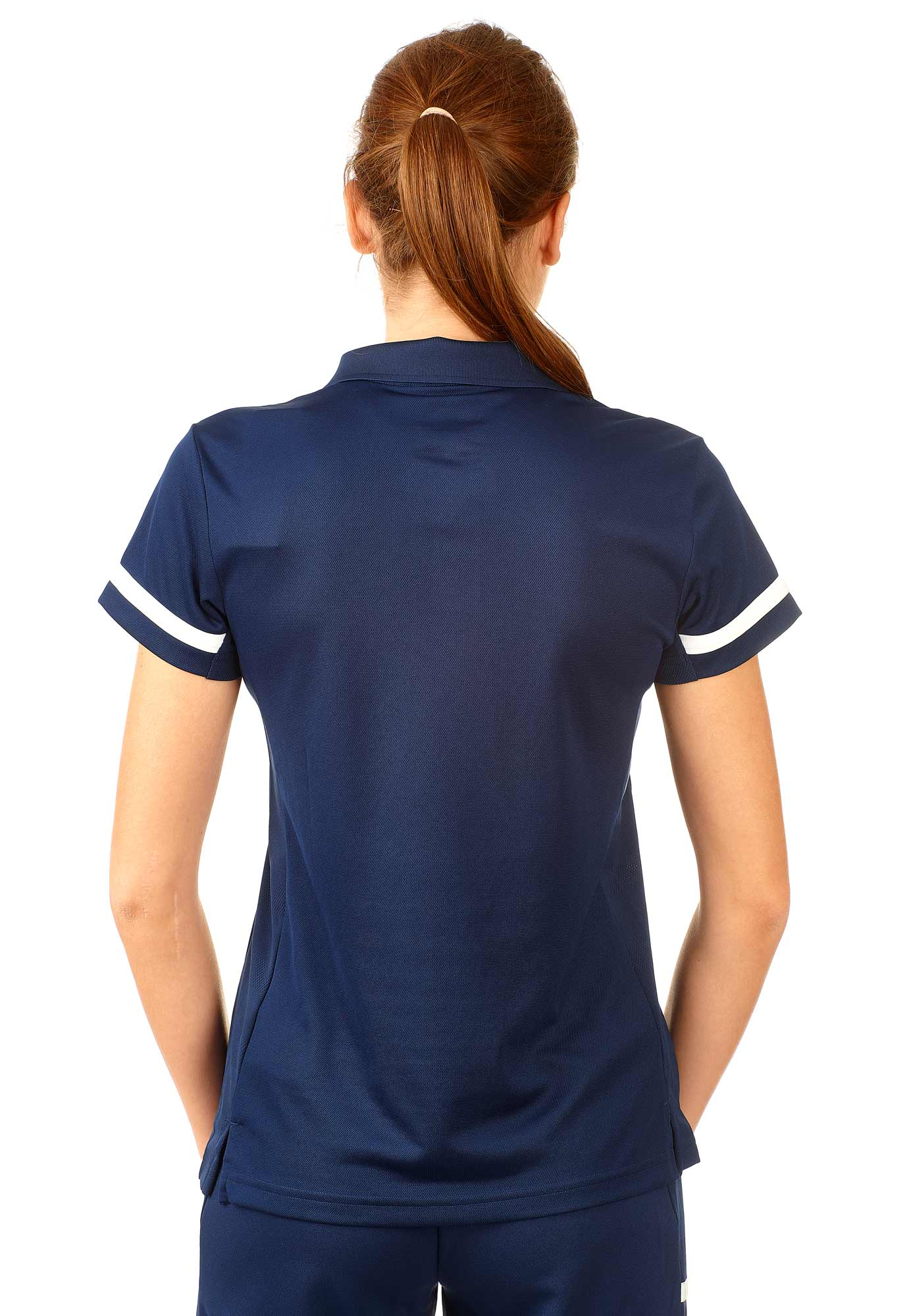 adidas T19 Polo Shirt Damen blauweiß, DY8863