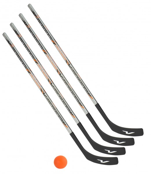 4 x Vancouver Streethockeyschläger 125 cm, Junior plus 1 Hockey-Ball