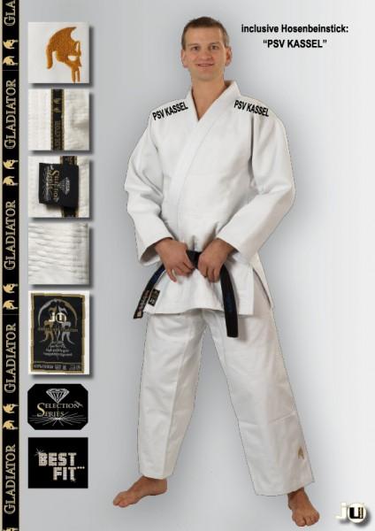 Judo-Anzug Gladiator weiß Kassel Vereinsedition
