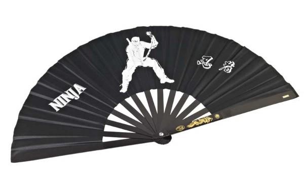 Ninja Fächer aus Aluminium schwarz