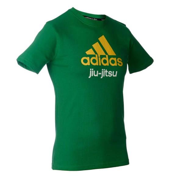 adidas Community line T-Shirt BJJ grün/gelb