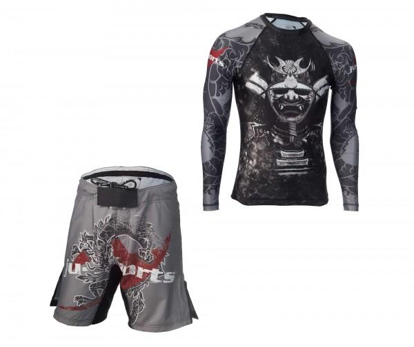 "Dark Line Set ""Kabuto"": Rashguard + Fight Shorts"