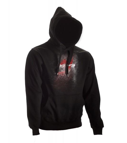 Dark-Line Hoody Jush Explosion schwarz-rot