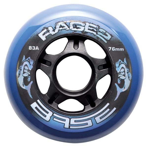 4 Stück BASE Performance Rolle RAGE II, blau, 71507