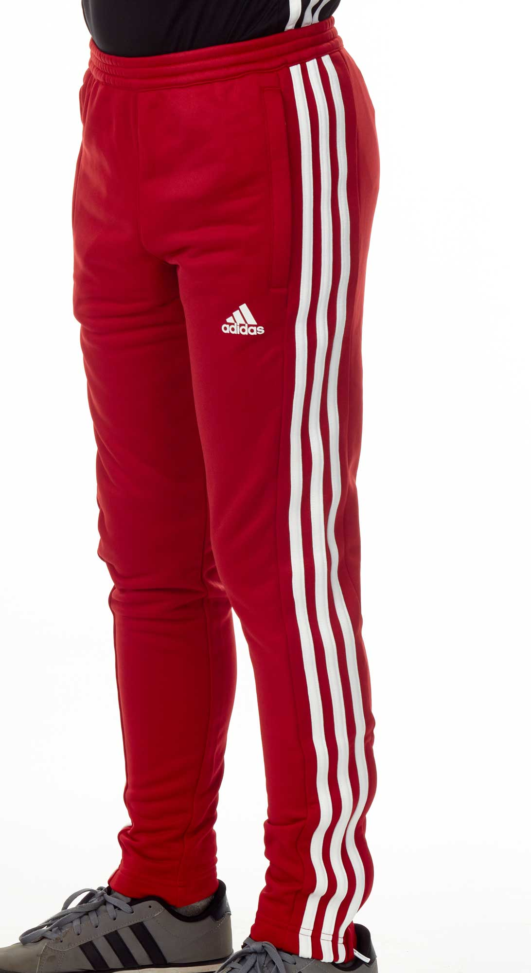 d9a5fa263771f1 adidas T16 Team Sweat Hose Kids power rot  weiß AJ5388