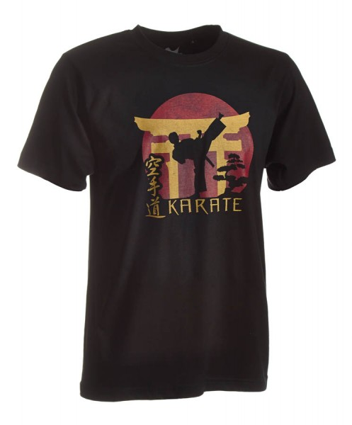 Karate-Shirt Torii schwarz