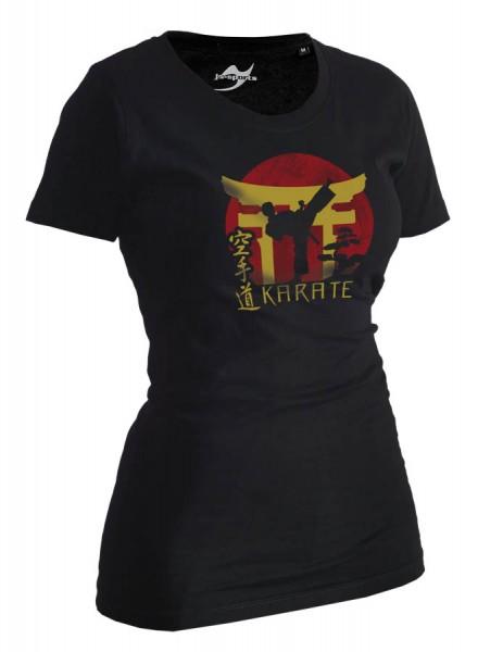 Karate-Shirt Torii schwarz Lady