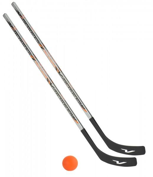 2 x Vancouver Streethockeyschläger 125 cm, Junior plus 1 Hockey-Ball