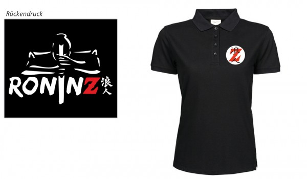 Ladies Heavy Polo Piqué black RoninZ Edition
