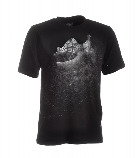 Dark-Line T-Shirt Jush Explosion schwarz-grau