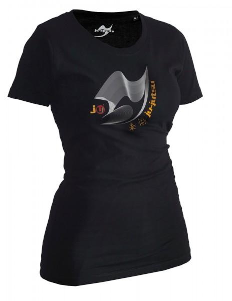 Ju-Jutsu-Shirt Moiré schwarz Lady
