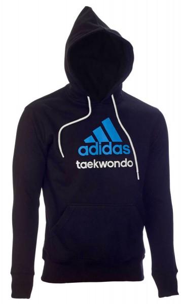adidas Community line Hoody Taekwondo schwarz/solar blue