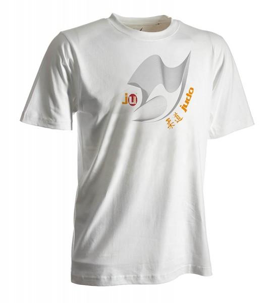 Judo-Shirt Moiré weiß