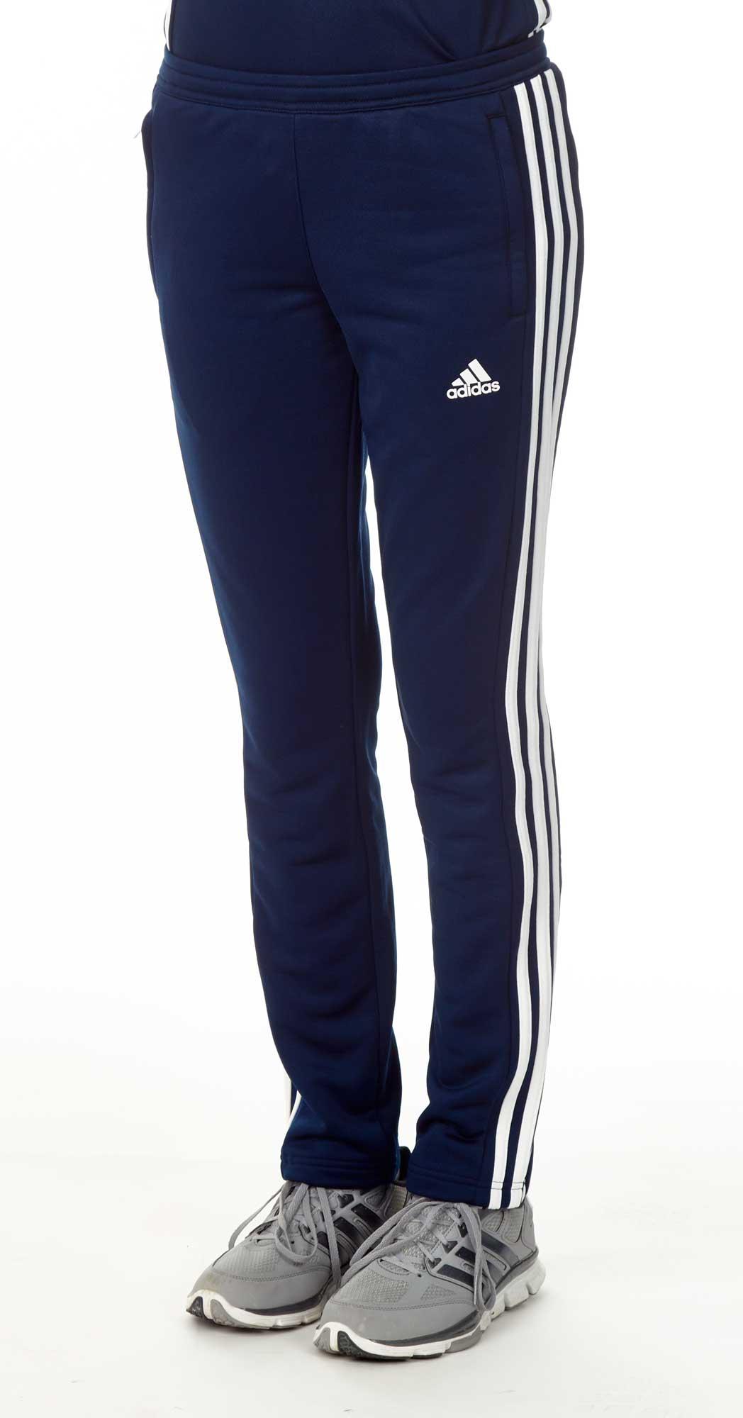 2019 Neupreis wo zu kaufen Sonderverkäufe adidas T16 Team Sweat Hose Damen navy blau /weiß AJ5391