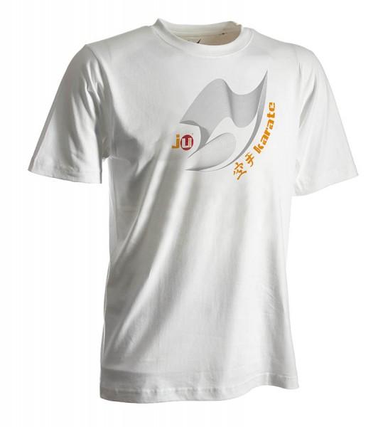 Karate-Shirt Moiré weiß