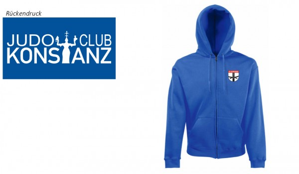 Classic Hooded Sweat Jacket JC Konstanz Vereinsedition, Royal Blue, F401N