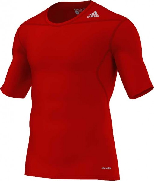 adidas Techfit Base Shortsleeve university-red (D82089)