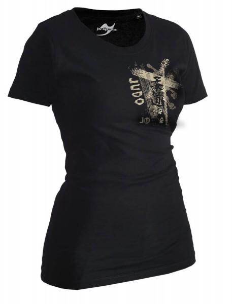 Judo-Shirt Trace schwarz Lady