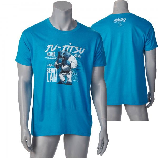 Nguns Benny Lah Ju-Jitsu T-Shirt L150 aqua