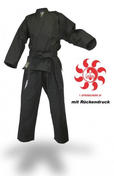 """SV Premium Anzug """"Ronin"""" schwarz Vereinskollektion Sprendlinger Judoverein"""