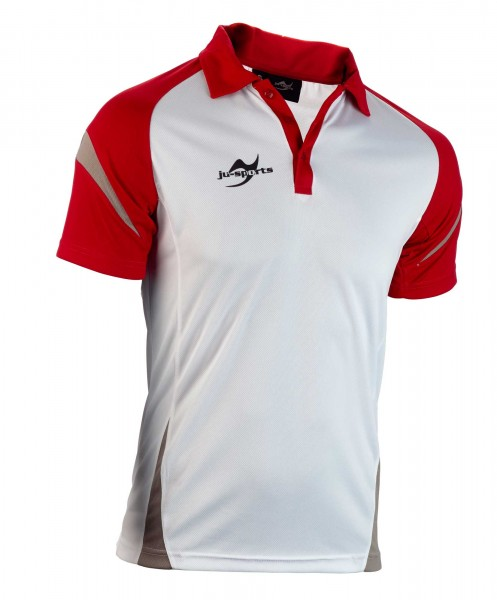 Teamwear Element C2 Polo weiß/rot