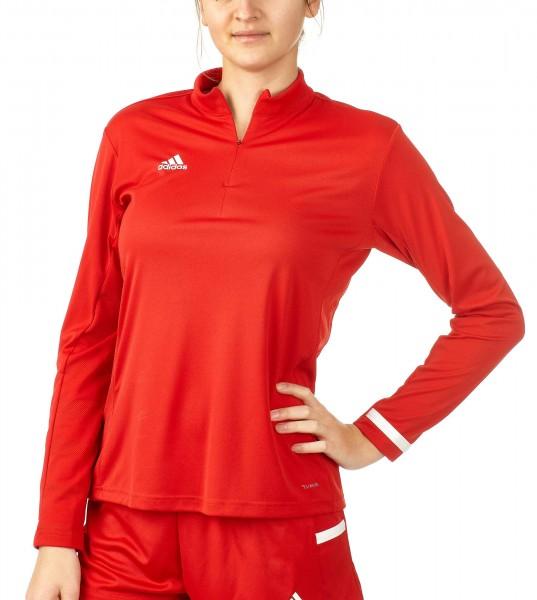 adidas T19 1/4 Longsleeve Damen rot/weiß, DX7320