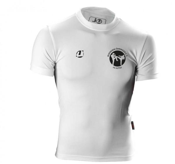 Compression Shirt kurzarm weiß Budokwai Öhringen Vereinsedition