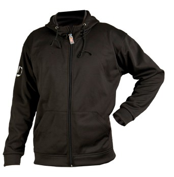 Softshell-Jacke schwarz mit Kapuze