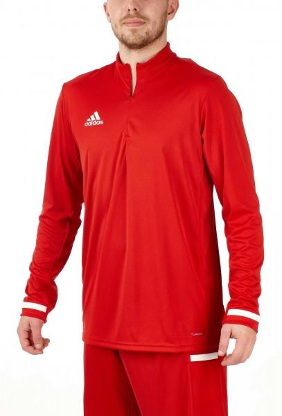 adidas T19 1/4 Longsleeve Männer rot/weiß, DX7317