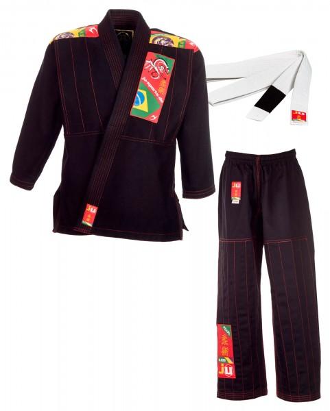 BJJ-Anzug Kids schwarz