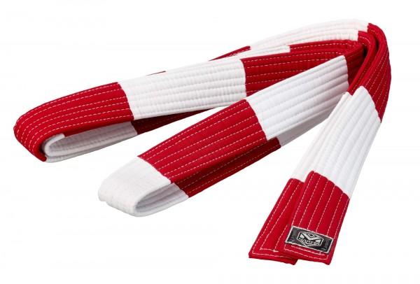 Großmeistergürtel Master 7. Dan rot/weiß 4,5 cm