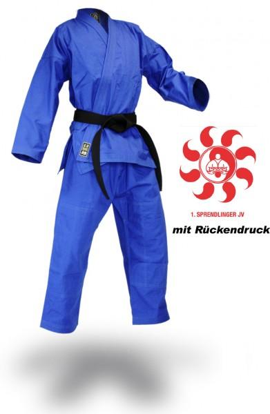 """SV Premium Anzug """"Ronin"""" blau Vereinskollektion Sprendlinger Judoverein"""