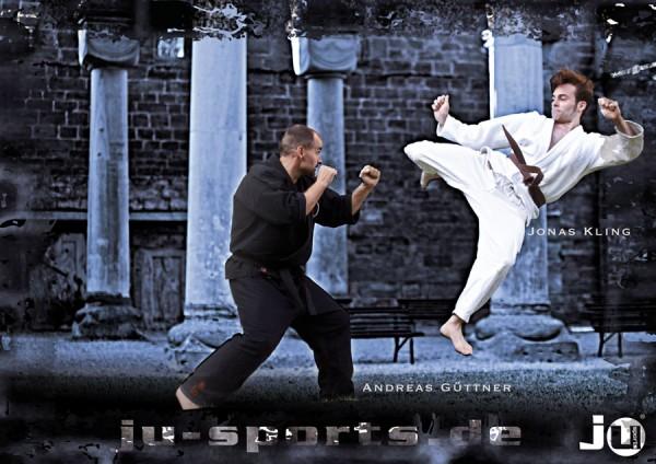 """Poster Ju-Jutsu """"Sprungkick"""""""