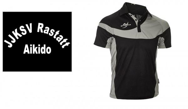 Teamwear Element C1 Polo schwarz, JJKSV Raststatt, Vereinslogo Aikido