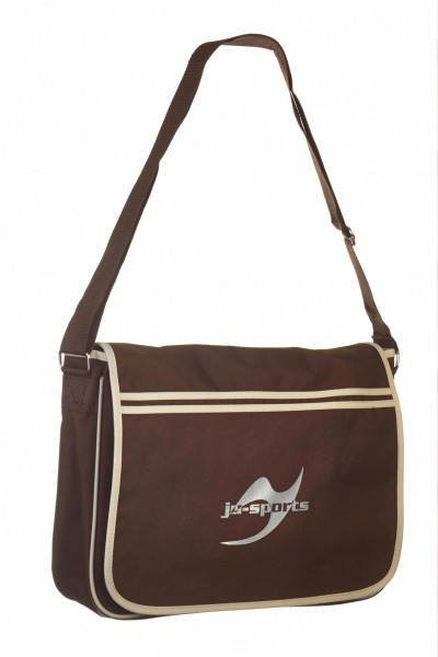 Retro Messenger Bag BG71 chocolate/sand