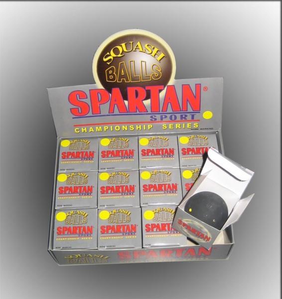 1 Spartan Squash-Ball weißer Punkt (slow)