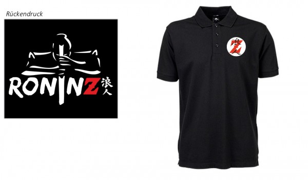 Men´s Luxury Stretch Polo black RoninZ Edition