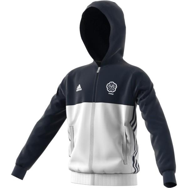 adidas TV Erlangen Judo mit Namensdruck T16 Team Hoodie Kids navy blau /weiß AJ5400