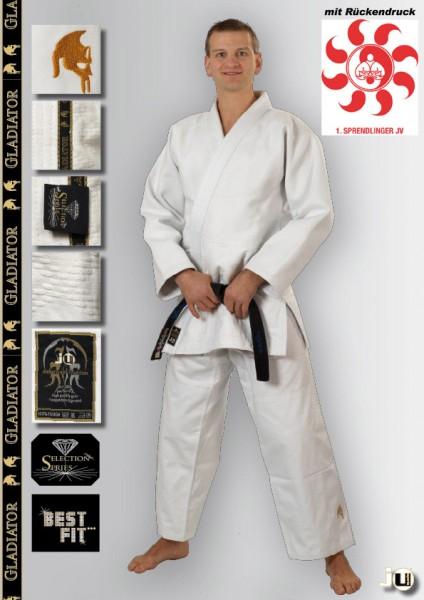 Judoanzug Gladiator weiß Vereinskollektion Sprendlinger Judoverein