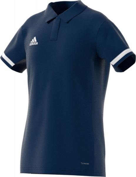 adidas T19 Polo Shirt Girls blau/weiß, DY8853