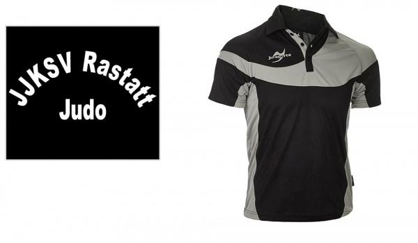 Teamwear Element C1 Polo schwarz, JJKSV Raststatt, Vereinslogo Judo