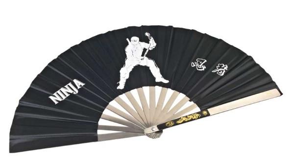 Ninja Fächer aus Stahl schwarz