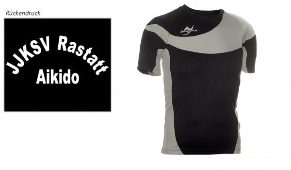 Teamwear Element C1 Shirt schwarz, JJKSV Raststatt, Vereinslogo Aikido