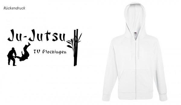 Lightweight Hooded Sweat Jacket, F407, TV Plochingen Ju-Jutsu, weiß